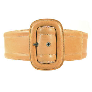MICHAEL KORS $595 Wide Distressed Leather Belt